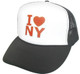 I love NY Hat, I Love New York Hat, Trucker Hat, Mesh Hat