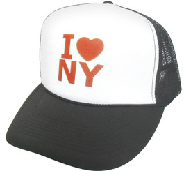 I love NY Hat, I Love New York Hat, Trucker Hat, Mesh Hat