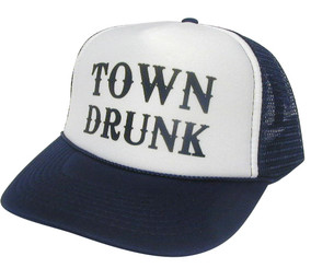 TOWN DRUNK Hat, Trucker Hat, Mesh Hat, Snap Back Hat