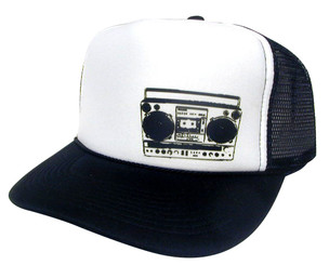 BOOM BOX left side Trucker Hat Mesh Hat Snap back Hat