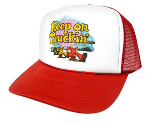 Keep on Truckin' Hat, Trucker Hat, Trucker Hats, Mesh Hat, Snap Back Hat