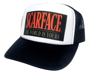 SCAREFACE Hat, Trucker Hat, Mesh Hat, Snap Back Hat, Movie Hat