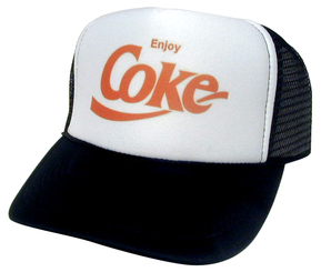 ENJOY COKE Hat, Trucker Hat, Mesh Hat, Snap Back Hat, Product Hat, Trucker Hats