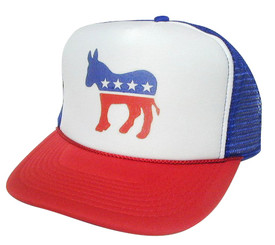 DEMOCRATIC PARTY Hat, Trucker Hat, Political Party Hat, Mesh Hat