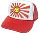 Smiling Japanese Flag Hat, Trucker Hat, Mesh Hat, Trucker Hats