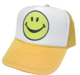 Smiley Face Hat, Trucker Hats Mesh Hats, Snap Back Hats