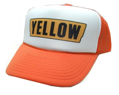 YELLOW, Yellow Trucking Hat, Trucker Hat, Trucker Hats, Mesh Hat, Snap Back Hat