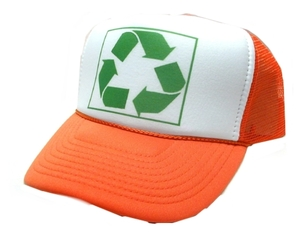 RECYCLE, Recycle Hat, Trucker Hat, Trucker Hats, Mesh Hat, Snap Back Hat
