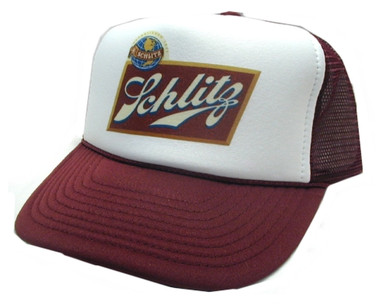 SCHLITZ, Schlitz Beer Hat, Trucker Hat, Mesh Hat, Snap Back Hat
