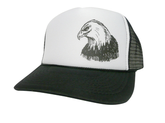 Eagle Head Hat, Trucker Hat, Mesh Hat, Snap Back Hat, Trucker Hats