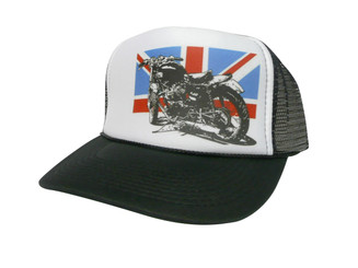 British Flag, Motorcycle, Trucker Hat, Trucker Hats, Mesh Hat, Snap Back Hat
