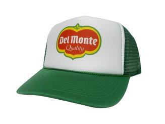 DEL MONTE, Del Monte Hat, Trucker Hat, Trucker Hats, Mesh Hat, Snap Back Hat