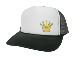 Gold Crown Hat, Trucker Hat, Mesh Hat, Snap Back Hat