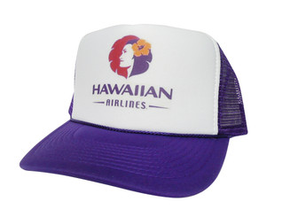 Hawaiian Airlines Hat, Trucker Hats, Mesh Hat, Snap Back Hat