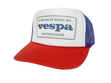 Vespa Hat, Vespa Trucker Hat, Mesh Hat, Snap Back Hat