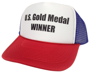 US Gold Medal Winner Hat, Trucker Hat, Trucker Hats, Mesh Hat, Snap Back Hat, HEY! Hat