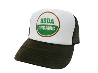 USDA ORGANIC Hat, Trucker Hat, Mesh Hat, Snap Back Hat, Trucker Hats