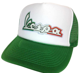 Vespa Scooters Hat, Trucker Hat, Trucker Hats, Mesh Hat, Snap Back Hat