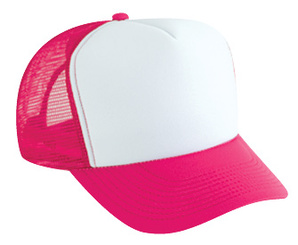 Plain Cap, WHITE FRONT HOT PINK BACK, Trucker Hat, Mesh Hat, Snap Back Hat, Plain Trucker Hat
