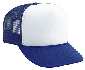 Blank Hat, White Front Royal Blue Back, Trucker Hat, Trucker Hats, Mesh Hat, Snap Back Hats