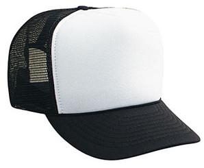 WHITE FRONT BLACK BACK Trucker Hat Mesh Hat Snapback Hat