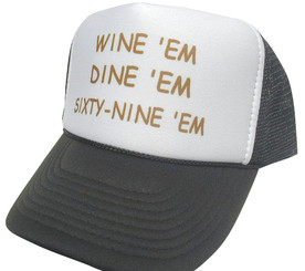 SEABASS DUMB AND DUMBER Hat, Wine Dine 69, Trucker Hat, HEY! Hat, Trucker Hats