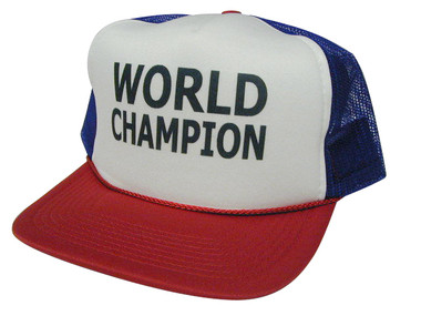 WORLD CHAMPION, Trucker Hat, Mesh Hat, HEY! HATS, Trucker Hat USA