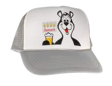 Hamm's Beer Bear, Trucker Hat, Trucker Hats, Mesh Hat