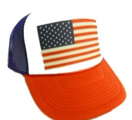 USA Flag trucker hat mesh hat Snapback cap
