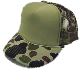 Green front Green Camouflage Trucker Hat mesh hat snap back hat blank