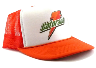 Gatorade hat Trucker Hat mesh hat Snap Back Hat Adjustable Thirst Quencher cap
