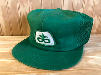 Vintage Pioneer Seeds Trucker Hat K brand K products 1980s Made in the USA snap Back cap