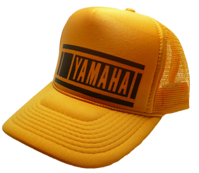 Yamaha Motocross Hat 80's Style Trucker Cap Racing Hat adjustable Snap Back