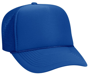 Royal Blue Plain Blank Trucker hat mesh hat snap back adjustable cap