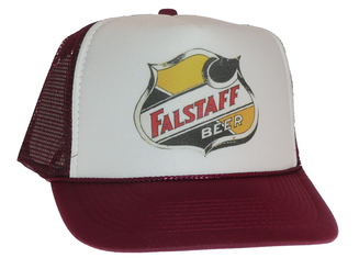 Falstaff Beer Trucker Hat Mesh Hat snap back adjustable cap