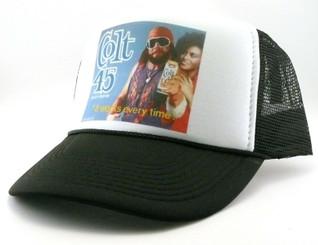 Colt 45 Macho Beer Malt Liquor Trucker Hat Mesh Hat Snap Back Adjustable