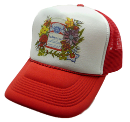 Budweiser Beer 1980's Trucker Hat Snap Back Mesh Cap