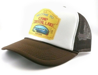 Camp Crystal Lake Trucker Hat Mesh Cap Friday the 13th Movie Hat