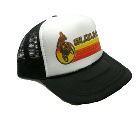 Suzuki Trucker Hat Snap Back Motocross Racing Hat