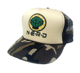Nerd Neptunes Trucker Hat Mesh Back Adjustable N*E*R*D Cap