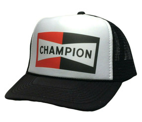 Champion Spark Plugs Hat Snap back Trucker Hat NHRA Drag Racing Cap