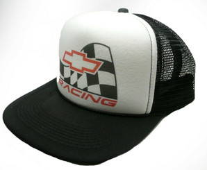 Chevy Racing Trucker Hat Adjustable Snap Back Hat Chevrolet Racing Cap