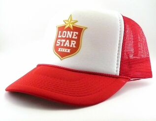 Lone Star Beer Trucker Hat Adjustable Snapback Mesh Hat Beer Cap