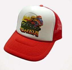 Honda Motocross Trucker Hat 1970's Style Mesh Hat Snap Back Cap