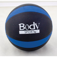 BLUE 2 LBS BODY SPORT MEDICINE BALL WITH ILLUSTRATED EXERCISE GUIDE