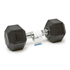 20 LBS BODY SPORT RUBBER ENCASED HEX DUMBBELL