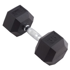 35 LBS BODY SPORT RUBBER ENCASED HEX DUMBBELL