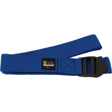 6 FOOT YOGA STRAP BLUE COTTON BLEND WITH PVC BUCKLE