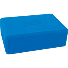 FOAM YOGA BLOCK, BLUE 4 X 6 X 9