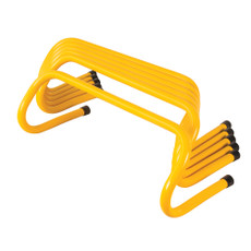 "BODY SPORT WEIGHTED HURDLES, 12"" HIGH, YELLOW, 6/SET"